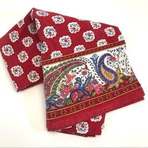 Williams Sonoma red tablecloth